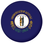 Kentucky State Flag 58mm Mirror Keyring